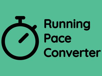 Convert different running speed measurements.